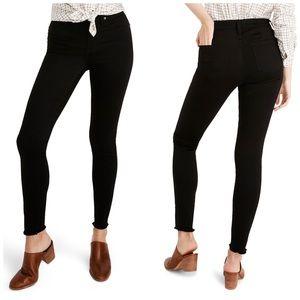 "Madewell 9"" Raw Hem Skinny Jeans Carbonate Sz27"